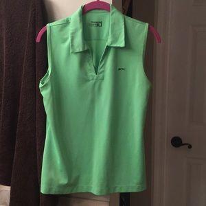 Slazenger Green athletic golf or tennis shirt